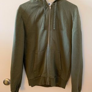 Olive green zip up hoodie